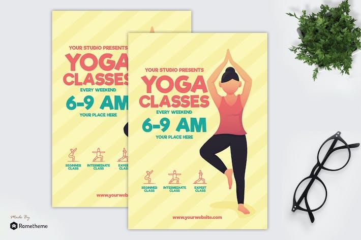 Cours de Yoga - dépliant GR