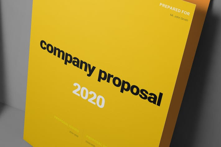 Thumbnail for Yellow Proposal Layout