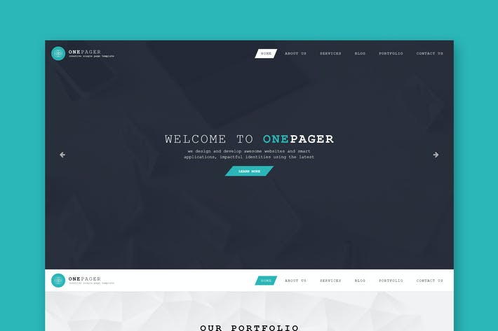 Thumbnail for Onepager - Responsive One Page HTML Template