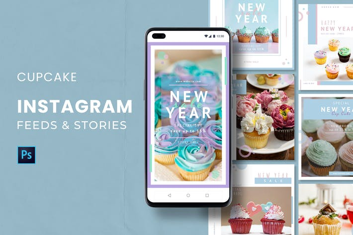 Thumbnail for Cupcake  Instagram Feed & Stories