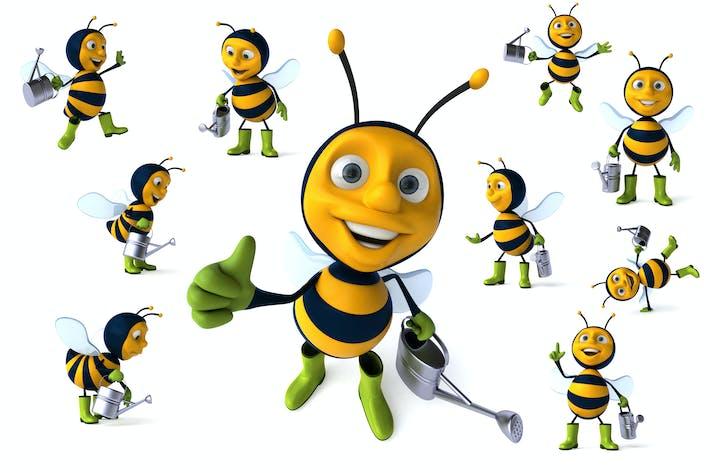 Thumbnail for 10 fun gardener bees !