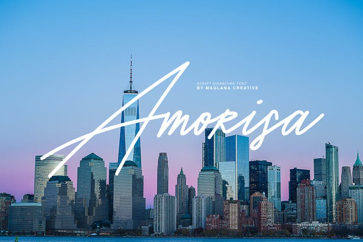 Cover Image For Amorisa Signature Font