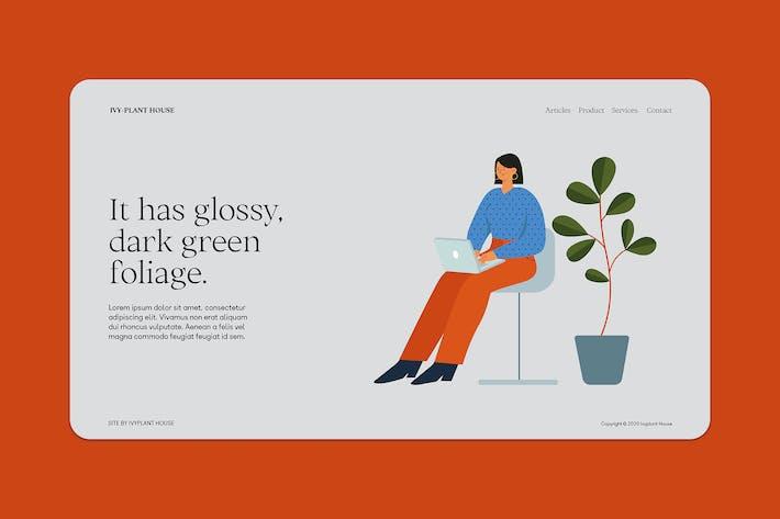Thumbnail for Freelancer & Houseplant Landing Page