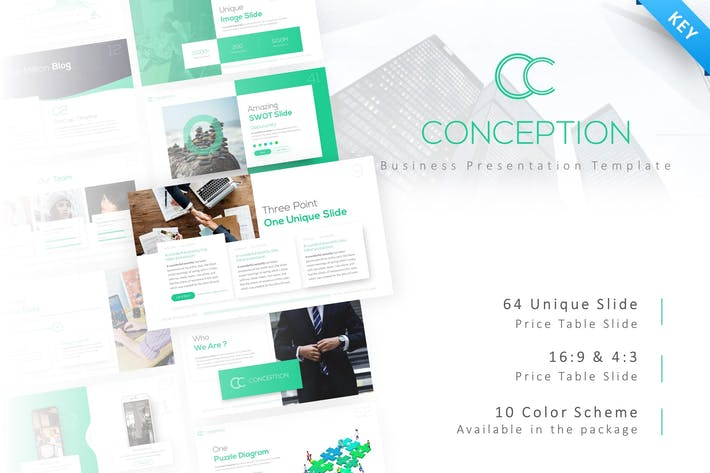 Thumbnail for Концепция - Шаблон ключевых заметок бизнеса