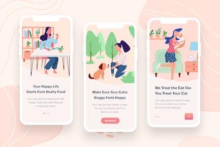 Women's Eat & Play Illustration
