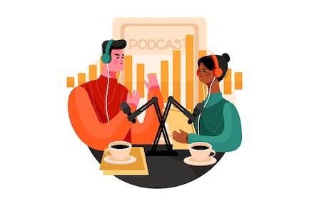 Podcast Community Illustration