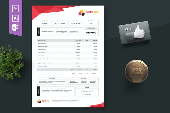 Thumbnail for Invoice Template 08