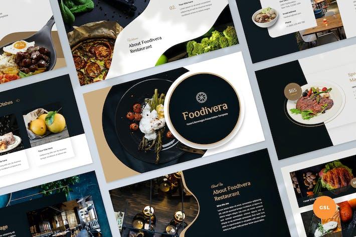 Thumbnail for Food & Beverages Slides Template
