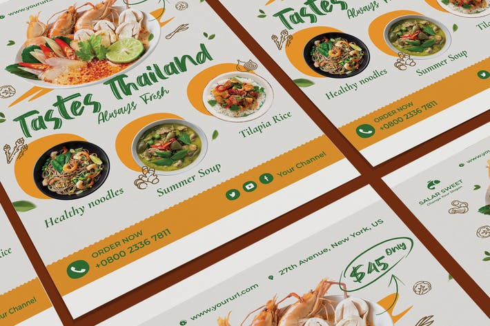 Thumbnail for Fresh Food Poster PSD Template