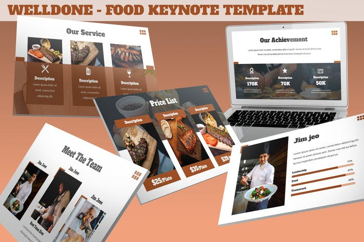 Thumbnail for Welldone - Food Keynote Template