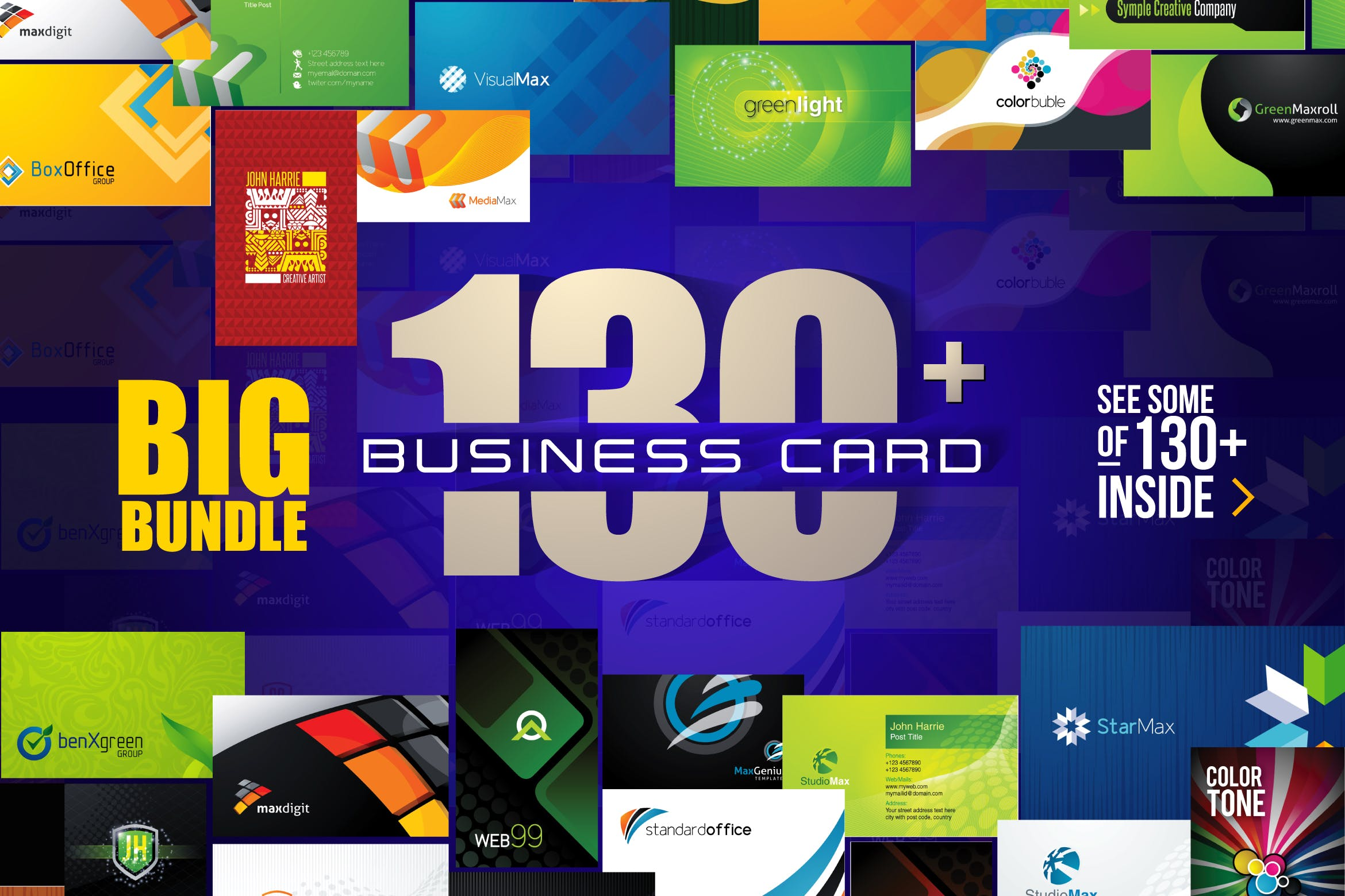 Big Bundle Business Card 2017  [Free Download] 130+ Ý Tưởng Thiết Kế Business card 2017