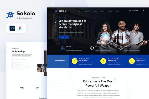 Sakola - Senior High School Website Design UI