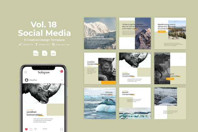 Kawasan - Social Media Kit. Vol 18