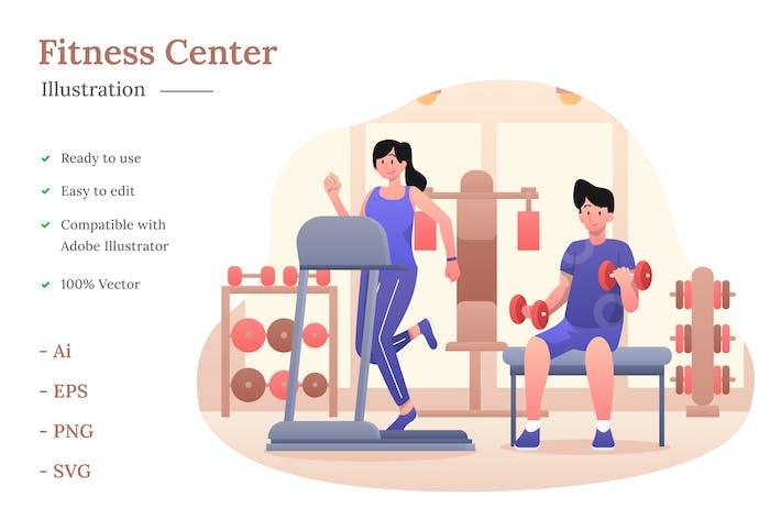 Thumbnail for Fitness Center Illustration