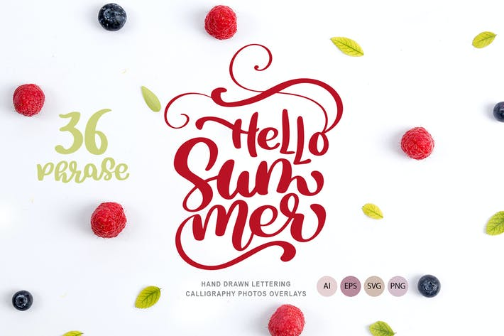 Cover Image For 36 Calligraphic Phrases about Summer