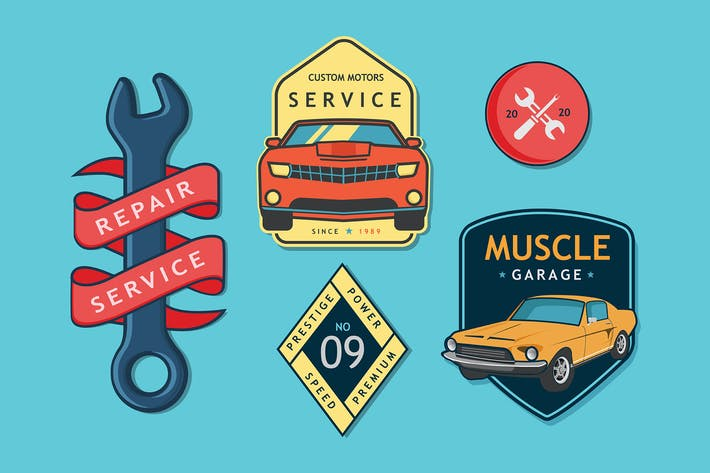 Thumbnail for Car Service Badges