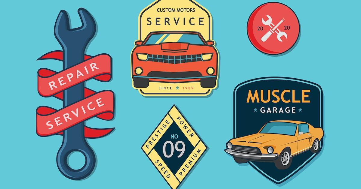 Download Car Service Badges by Jumsoft
