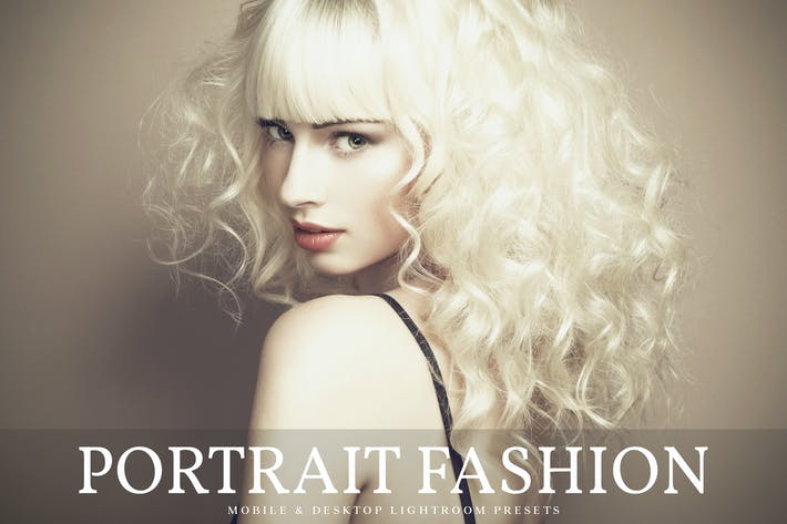 Thumbnail for Portrait Fashion Mobile & Desktop Lightroom Preset