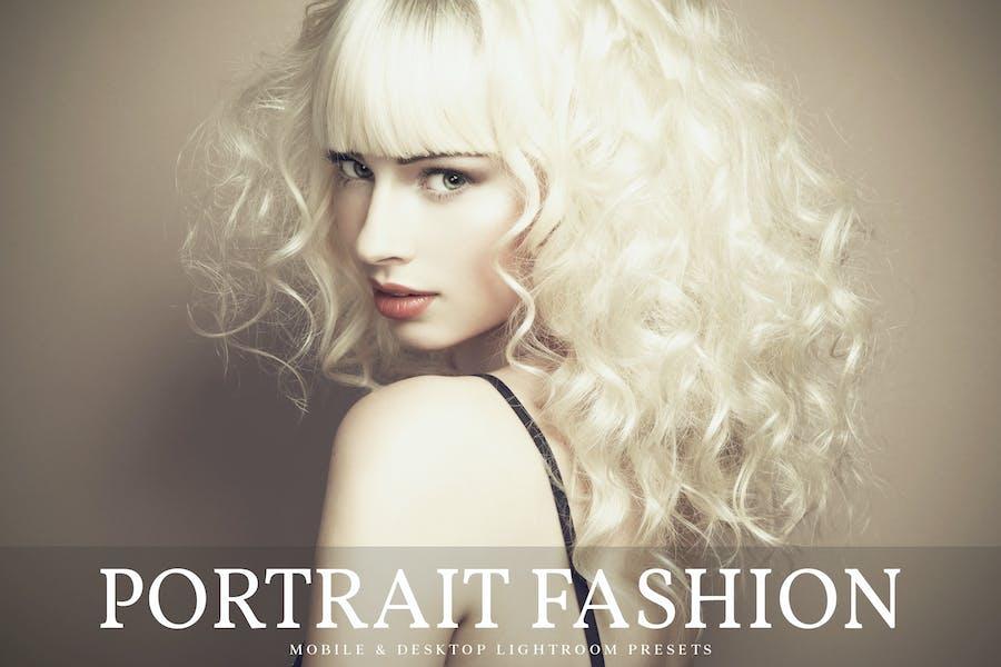 Портрет моды для мобильных и настольных Lightroom предустановки