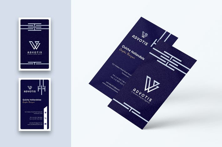 Thumbnail for Designer Business Card Template-Vertical