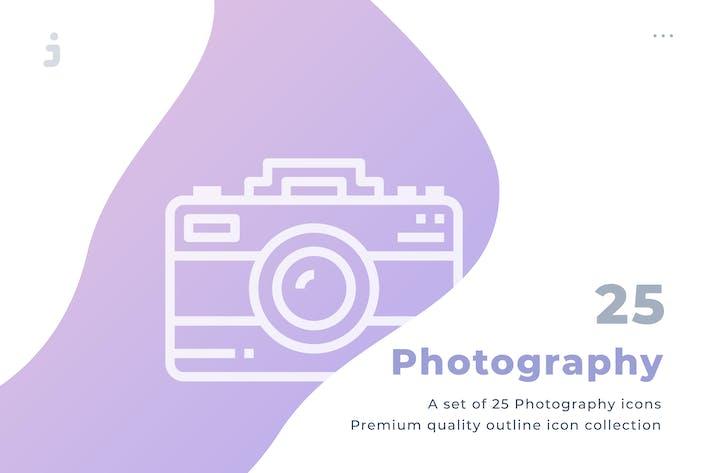 Thumbnail for 25 Photography icon set