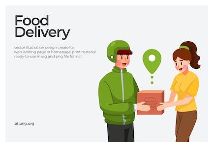 Food Delivery - Illustration