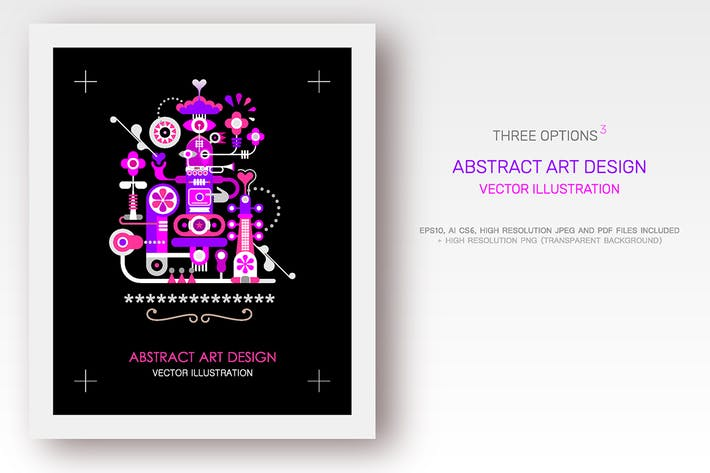 Thumbnail for Abstract Art Designs (3 options)