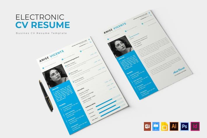 Thumbnail for Electronic | CV & Resume