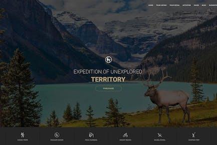 Modèle HTML de voyage Tour & Aventure - Entrada