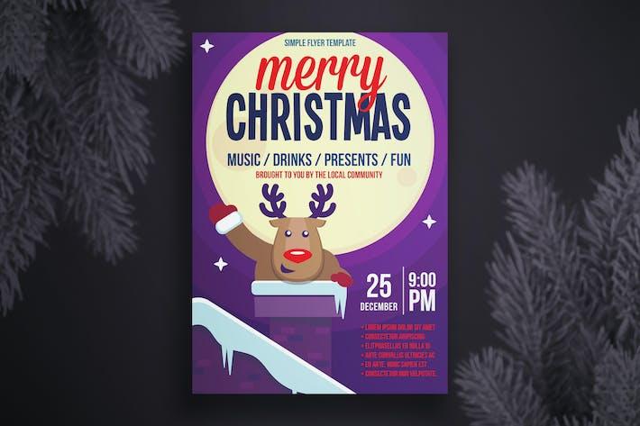 Thumbnail for шаблон рождественской Флаер