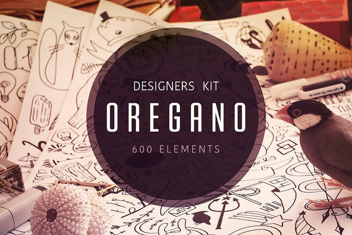 Thumbnail for Oregano - Vector Elements Kit