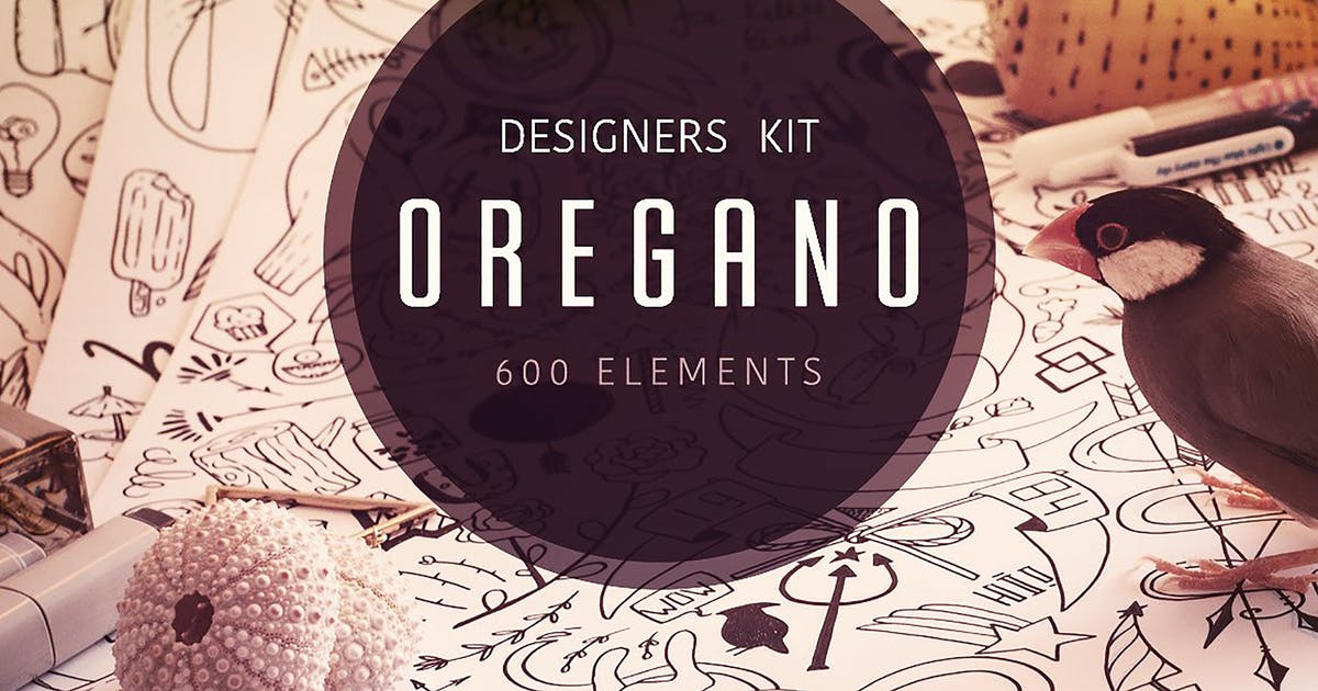Download Oregano - Vector Elements Kit by Oxana-Milka