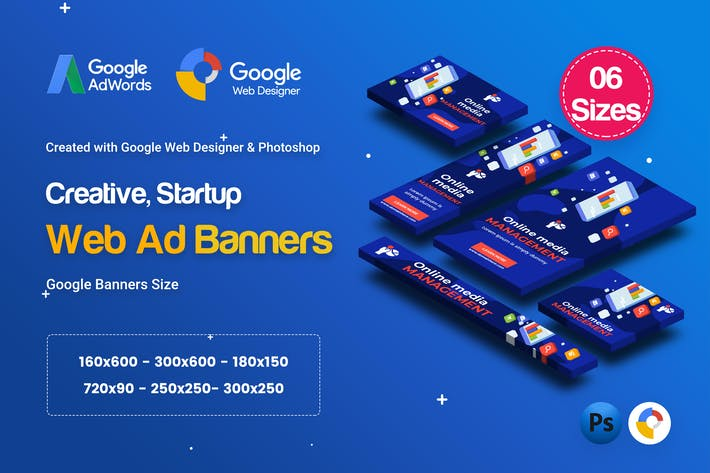 Thumbnail for C59 - Creative, Startup HTML5 Ad - GWD & PSD