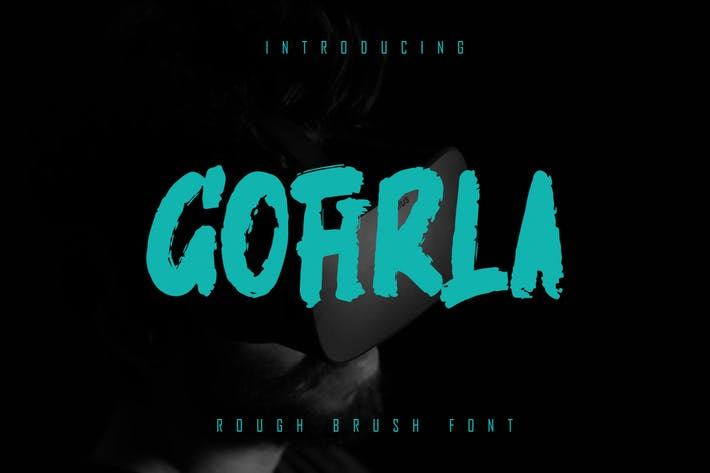 GOFIRLA - Rough Brush Font