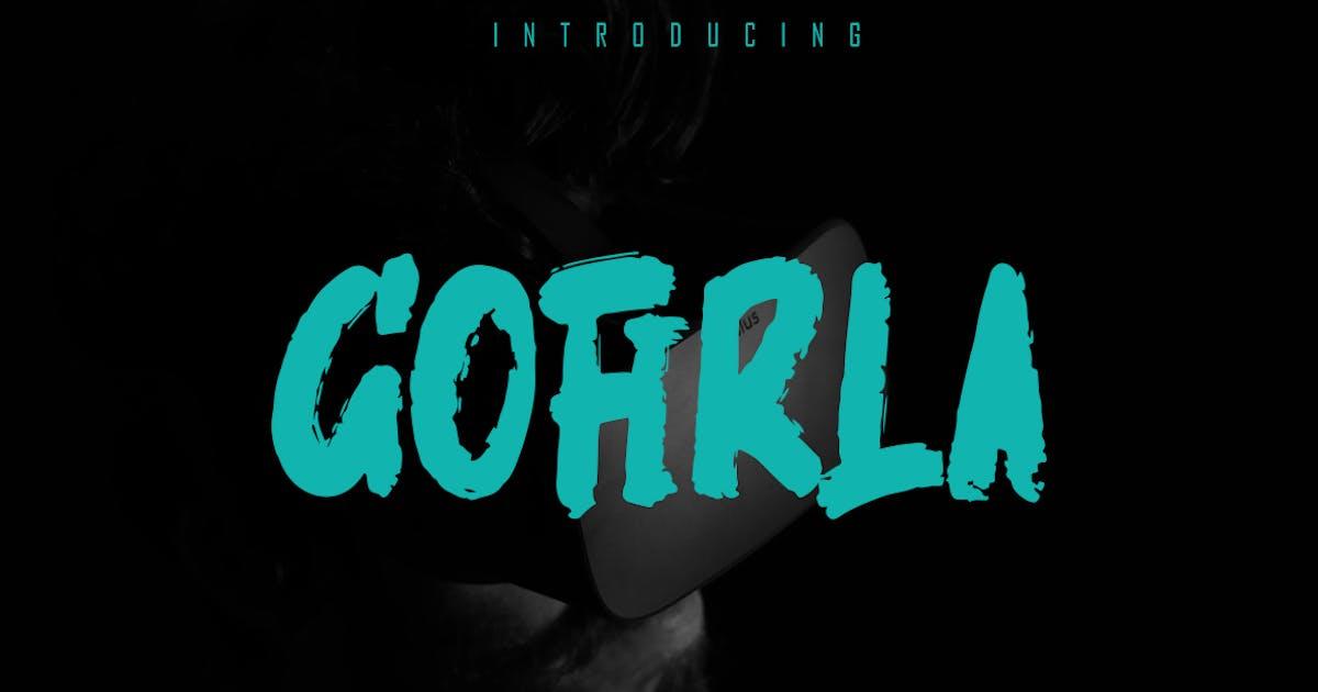 Download GOFIRLA - Rough Brush Font by Skiiller_studio