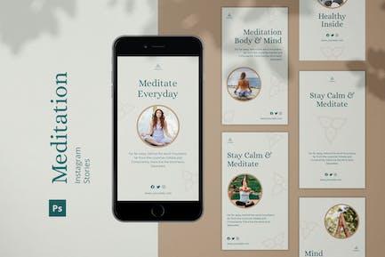 Historias de Meditación Instagram