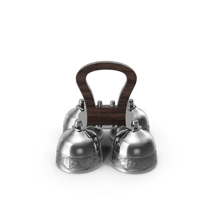 Silver Liturgical Altar Bell with Wood Handle