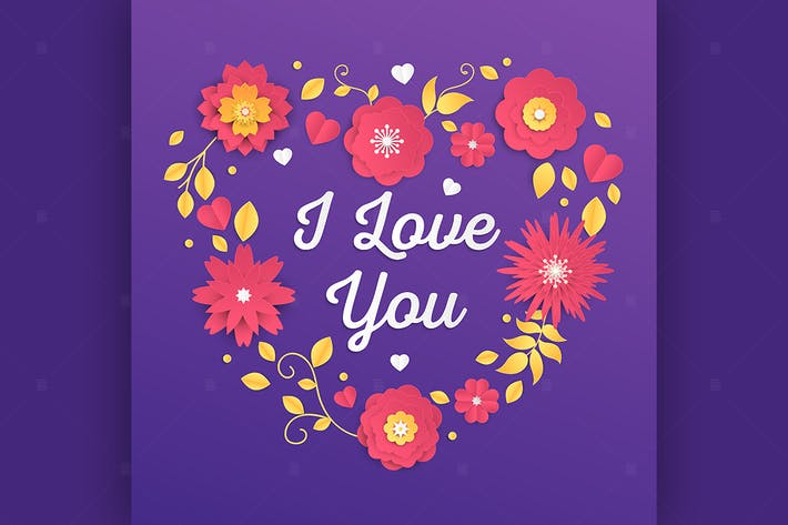 Thumbnail for I love you - modern vector colorful illustration