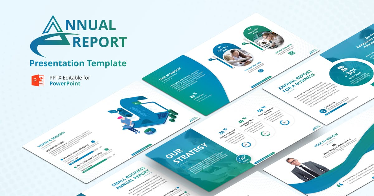Download Annual Report PowerPoint Presentation Template by Premast