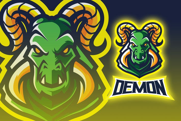 Horned Demon Esport Logo