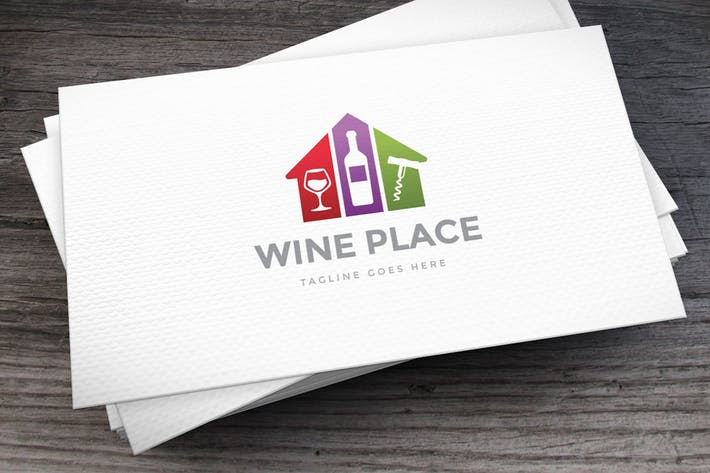 Thumbnail for Wine Place Logo Template