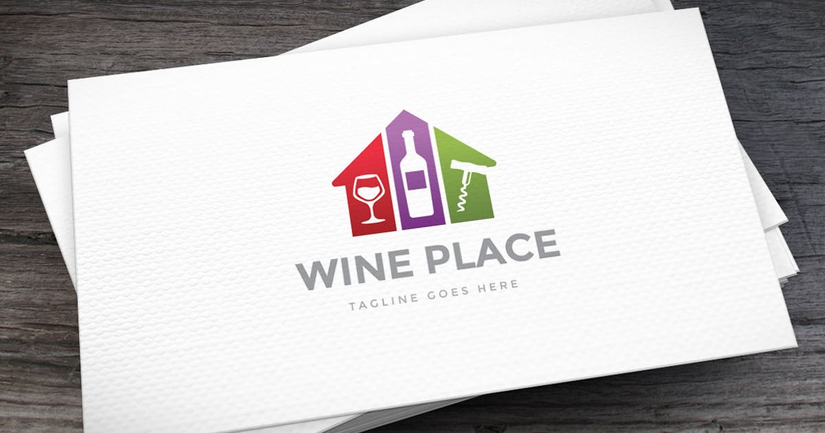 Download Wine Place Logo Template by empativo