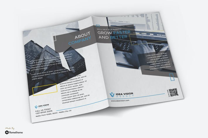 Thumbnail for Vision - Corporate Business Bifold Brochure RY