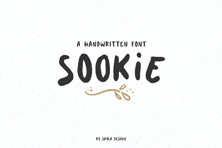 Sookie mignonne police manuscrite