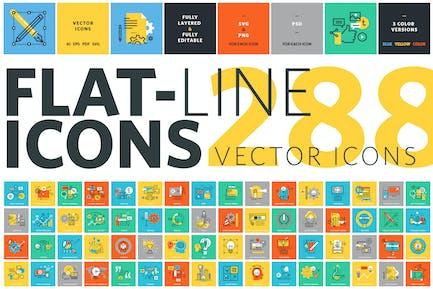 Kit de Íconos de línea plana