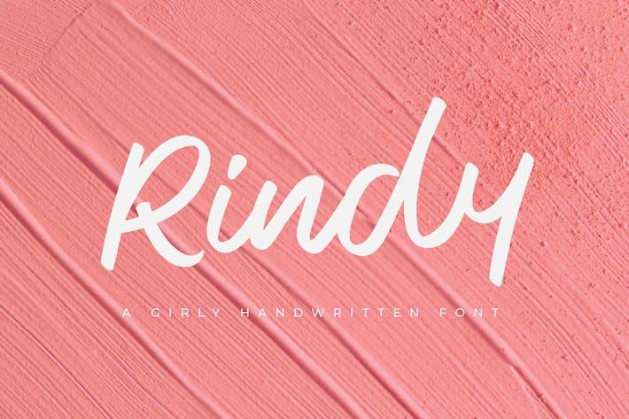 Rindy - Fuente escrita a mano femenina