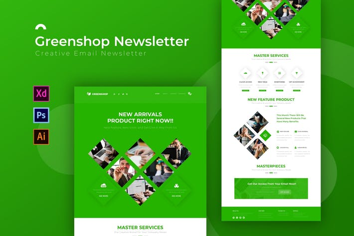 Thumbnail for Greenshop | Newsletter Template