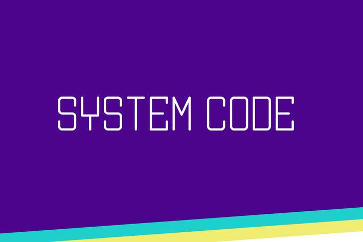 Thumbnail for System Code