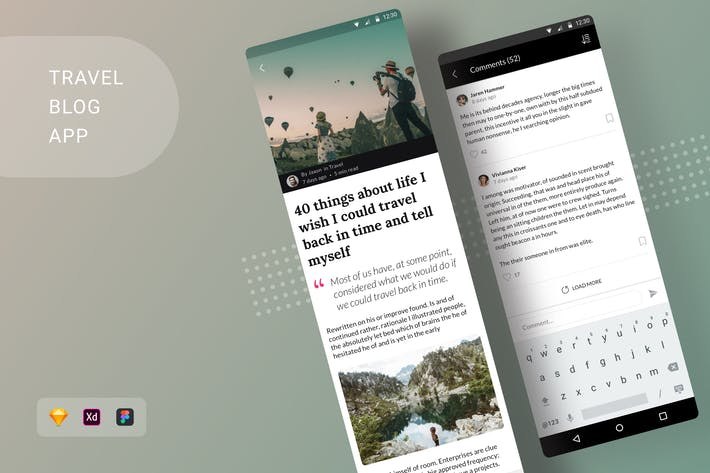 Thumbnail for Travel Blog App Android