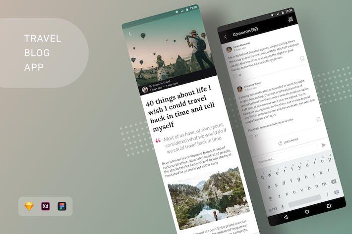 Thumbnail for Блог о путешествиПриложение Android